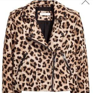 Gorgeous H&M leopard biker jacket